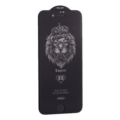 """Стекло защитное Remax 9D GL-35 Emperor Series Антишпион Твердость 9H для iPhone 8/ 7 (4.7"""") 0.22mm Black - фото 21088"""