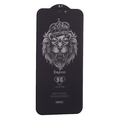 "Стекло защитное Remax 9D (GL-35) Emperor Series Антишпион Твердость 9H для iPhone 11/ XR (6.1"") 0.22mm Black - фото 21093"