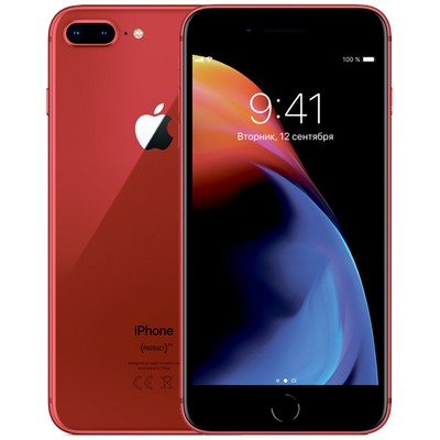 Apple iPhone 8 Plus 64GB Red (красный) - фото 4899