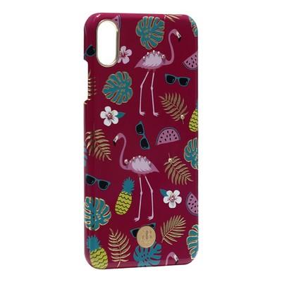 """Чехол-накладка KINGXBAR для iPhone XS Max (6.5"""") пластик со стразами Swarovski (Фламинго) - фото 21236"""