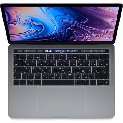 Apple MacBook Pro 13 Retina and Touch Bar 2018 256Gb Space Gray (серый космос) MR9Q2RU (2.3GHz, 8GB, 256GB) - фото 21636