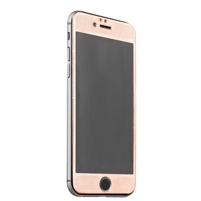 Стекло защитное (карбон) для iPhone 6s/ 6 (4.7) Rose Gold - Premium Tempered Glass 0.26mm скос кромки 2.5D Розовое Золото - фото 8313