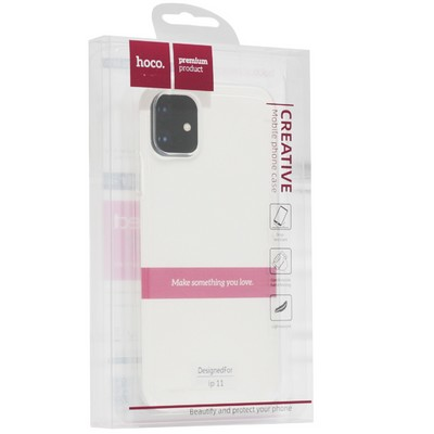 """Чехол силиконовый Hoco Light Series для iPhone 11 (6.1"""") Прозрачный - фото 21662"""