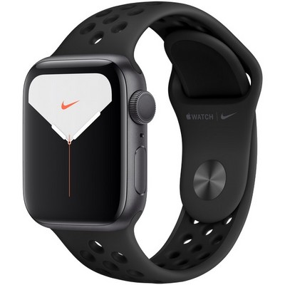 Apple Watch Nike Series 5 GPS 40mm Space Gray Aluminum Case with Anthracite/Black Nike Sport Band (MX3T2) - фото 23086