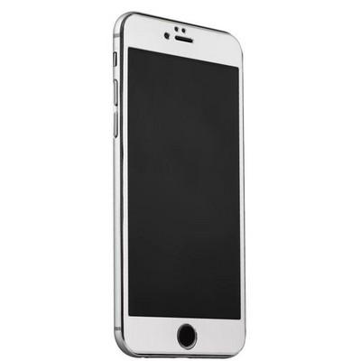 Стекло защитное&накладка пластиковая iBacks Full Screen Tempered Glass для iPhone 6s Plus/ 6 Plus (5.5) - (ip60186) Серебристое - фото 36450