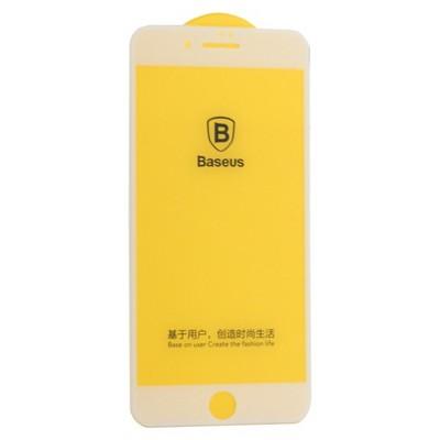"""Стекло защитное Baseus 3D Arc-Surface Anti-Fingerprints SGAPIPH8P-AJG02 для iPhone 8 Plus/ 7 Plus (5.5"""") 0.30mm White - фото 36466"""