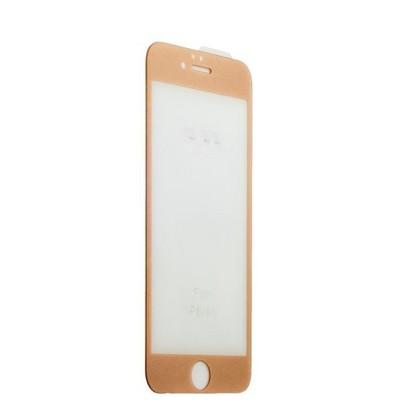 Стекло защитное 3D для iPhone 6s Plus/ 6 Plus (5.5) Gold - фото 36525