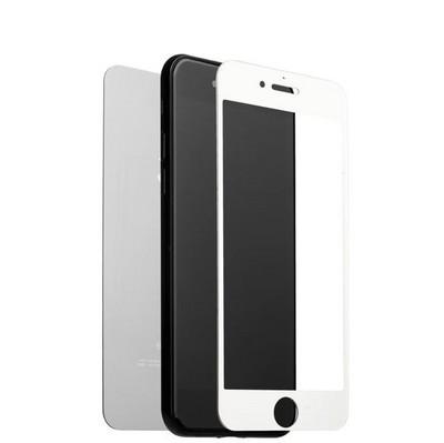 """Стекло защитное для iPhone 8 Plus/ 7 Plus (5.5"""") Silver 2в1 (зеркальное-глянцевое, 2 стороны) Серебристое - фото 36549"""