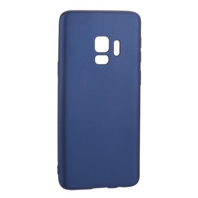 Чехол-накладка Deppa Case Silk TPU Soft touch D-89002 для Samsung GALAXY S9 SM-G960F 1мм Синий металик - фото 28557