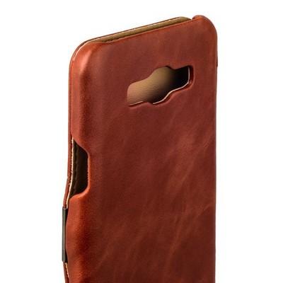 Чехол-книжка кожаный i-Carer для Samsung GALAXY A8 Vintage Series (RSA81001br) Коричневый - фото 28601