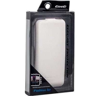 Чехол Fashion Case для iPhone 6s/ 6 (4.7) кожаный с откидным верхом белый - фото 28630