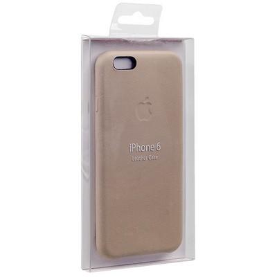 Чехол-накладка кожаная Leather Case для iPhone 6s/ 6 (4.7) Soft Pink - Бледно-розовый - фото 28635