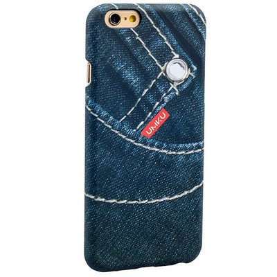 Накладка пластиковая Umku Jeans для iPhone 6s/ 6 (4.7) Soft-touch вид 4 - фото 28646