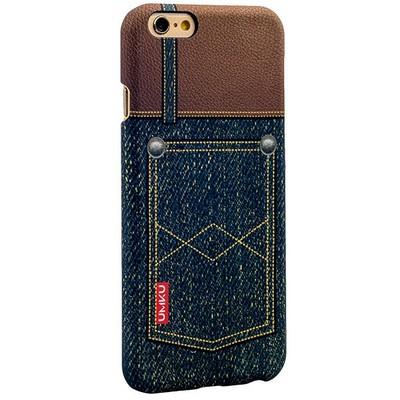 Накладка пластиковая Umku Jeans для iPhone 6s/ 6 (4.7) Soft-touch вид 6 - фото 28648