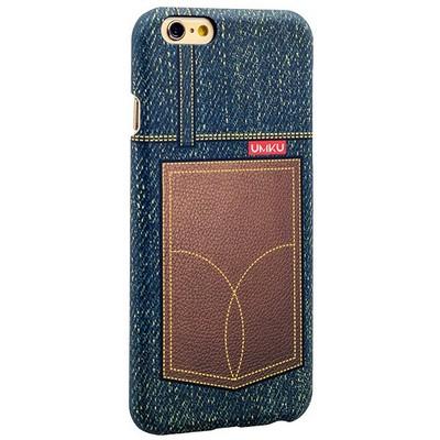 Накладка пластиковая Umku Jeans для iPhone 6s/ 6 (4.7) Soft-touch вид 7 - фото 28649
