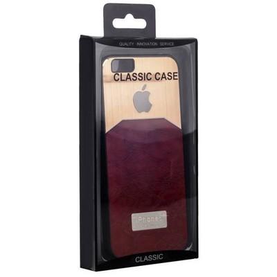 Чехол-накладка с яблоком для iPhone 6s/ 6 (4.7) коричневая - фото 28670
