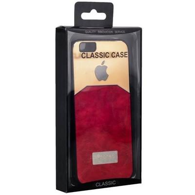 Чехол-накладка с яблоком для iPhone 6s/ 6 (4.7) красная - фото 28671