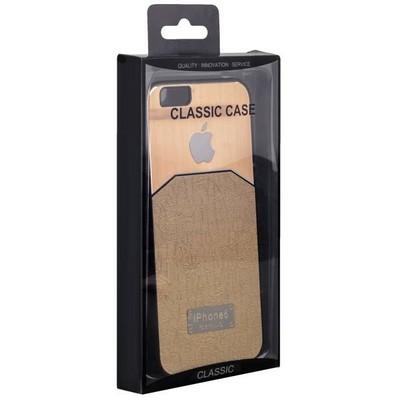 Чехол-накладка с яблоком для iPhone 6s/ 6 (4.7) золотая - фото 28673