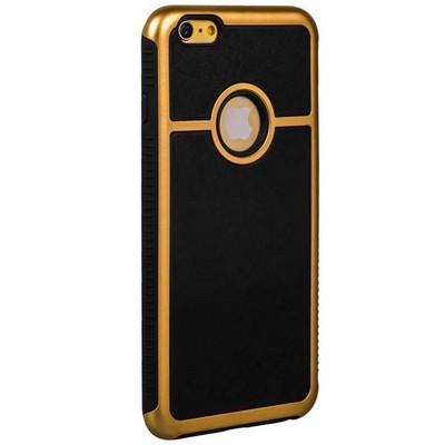 Накладка противоударная для iPhone 6s Plus/ 6 Plus (5.5) с золотой окантовкой тип 1 - фото 28713