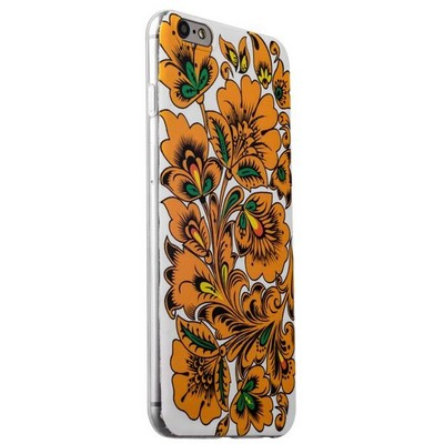 Чехол-накладка UV-print для iPhone 6s Plus/ 6 Plus (5.5) силикон (цветы и узоры) Хохлома тип 005 - фото 29417