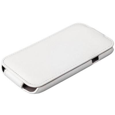 Чехол Exakted для Samsung Galaxy A8 SM-A800F с откидным верхом Белый в техпаке - фото 32159