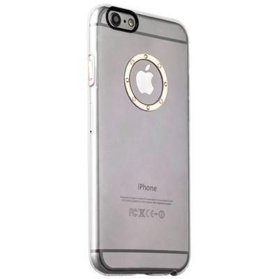 Накладка пластиковая iBacks Transparent Case with Diamond Ring для iPhone 6s Plus (5.5) - (ip60219) Champagne Gold Ring - фото 32232