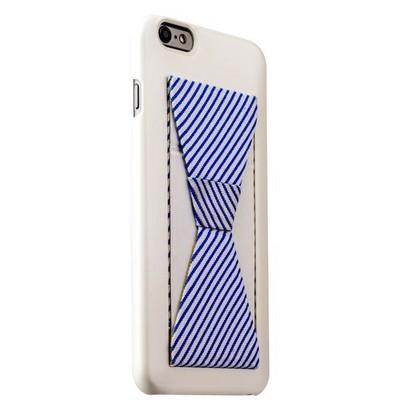Накладка-подставка iBacks Bowknot Series PC Case для iPhone 6s Plus/ 6 Plus (5.5) (60334) White/ Stripes - фото 29741