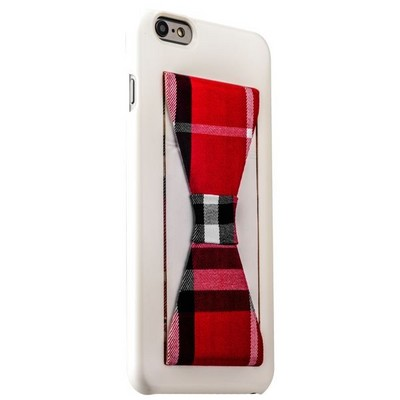 Накладка-подставка iBacks Bowknot Series PC Case для iPhone 6s Plus/ 6 Plus (5.5) (60335) White/ Tartan - фото 29742
