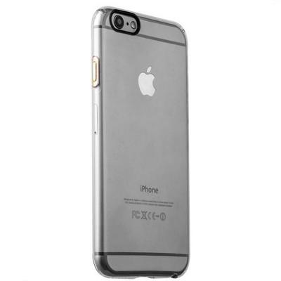 Накладка пластиковая iBacks Inherent Jacket Transparent Case для iPhone 6s/ 6 (4.7) - (ip60306) кнопка Champagne Gold - фото 29745