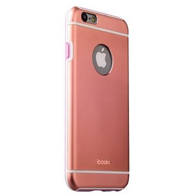 Накладка металлическая iBacks Ares Armour Aluminum Case для iPhone 6s Plus/ 6 Plus (5.5) (ip60285) Rose Gold - фото 29781