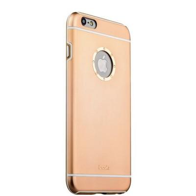 Накладка металлическая iBacks Ares Armour Love Aluminum Case with Crystal Diamond для iPhone 6s Plus (5.5) - (ip60290) Gold - фото 29782