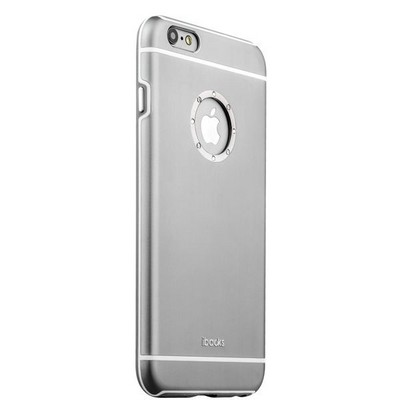Накладка металлическая iBacks Ares Armour Love Aluminum Case with Crystal Diamond для iPhone 6s Plus (5.5) - (ip60292) Gray - фото 29784