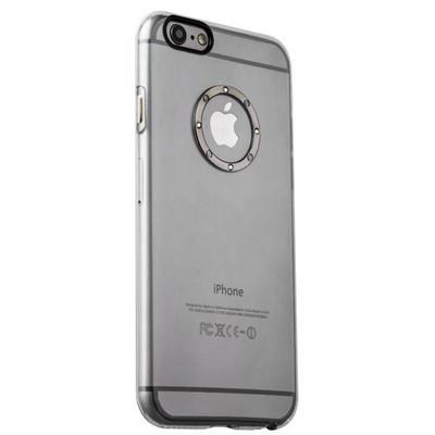 Накладка пластиковая iBacks Transparent Case with Diamond Ring для iPhone 6s Plus (5.5) - (ip60220) Black Ring - фото 29786