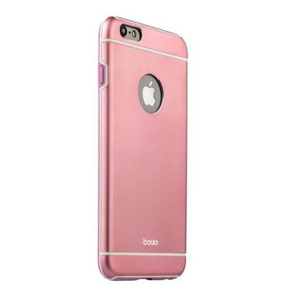 Накладка металлическая iBacks Ares Armour Aluminum Case для iPhone 6s Plus/ 6 Plus (5.5) (ip60085) Pink - фото 29788