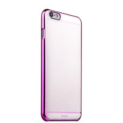 Накладка пластиковая ультра-тонкая iBacks iFling Colorful Electroplating PC для iPhone 6s Plus (5.5) - (ip60206) Pink/ White - фото 29790