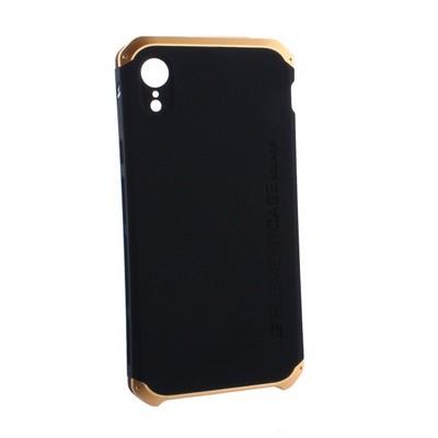 """Чехол-накладка противоударный (AL&Pl) для Apple iPhone XR (6.1"""") Solace Черный (золотистый ободок) - фото 29844"""