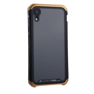 """Чехол-накладка противоударный (AL&Glass) для Apple iPhone XR (6.1"""") G-Solace золотисто-черный ободок - фото 29851"""