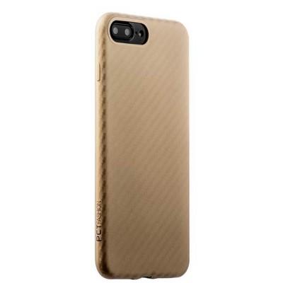 Накладка (карбон) ультра-тонкая Phantom series (HYIIP7-GLD) для iPhone 8 Plus/ 7 Plus (5.5) Золотистая - фото 29998