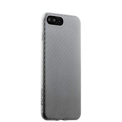 Накладка (карбон) ультра-тонкая Phantom series (HYIIP7-SIL) для iPhone 8 Plus/ 7 Plus (5.5) Серебристая - фото 30000