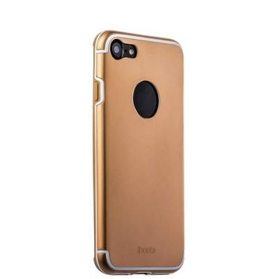Накладка металлическая iBacks Premium Aluminium case для iPhone 8/ 7 (4.7) - Essence (ip60354) Gold Золототистая - фото 30011