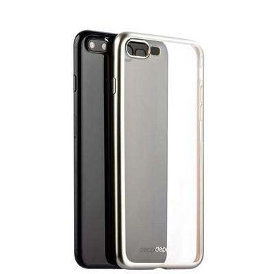 Чехол-накладка силикон Deppa Gel Plus Case D-85287 для iPhone 8 Plus/ 7 Plus (5.5) 0.9мм Серебристый матовый борт - фото 30049