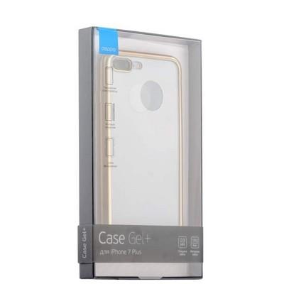 Чехол-накладка силикон Deppa Gel Plus Case D-85289 для iPhone 8 Plus/ 7 Plus (5.5) 0.9мм Золотистый матовый борт - фото 30051