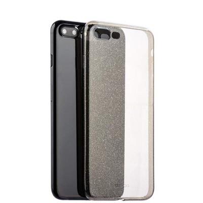 Чехол-накладка силикон Deppa Chic Case с блестками D-85301 для iPhone 8 Plus/ 7 Plus (5.5) 0.8мм Черный - фото 30055