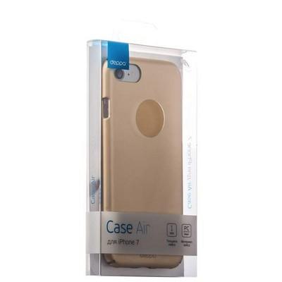 Чехол-накладка пластик Soft touch Deppa Air Case D-83270 для iPhone SE (2020г.)/ 8/ 7 (4.7) 1мм Золотистый - фото 30071