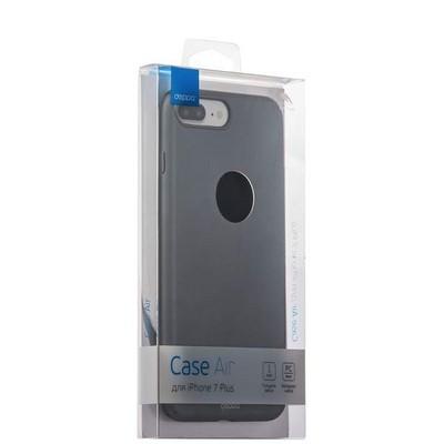 Чехол-накладка пластик Soft touch Deppa Air Case D-83274 для iPhone 8 Plus/ 7 Plus (5.5) 1мм Графитовый - фото 30075