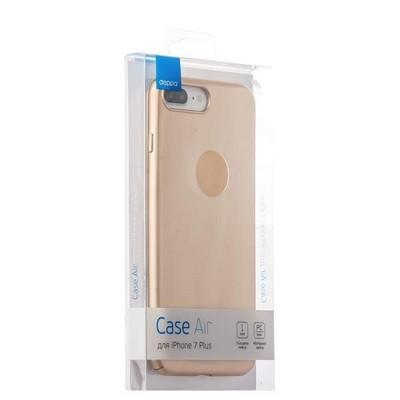 Чехол-накладка пластик Soft touch Deppa Air Case D-83275 для iPhone 8 Plus/ 7 Plus (5.5) 1мм Золотистый - фото 30076