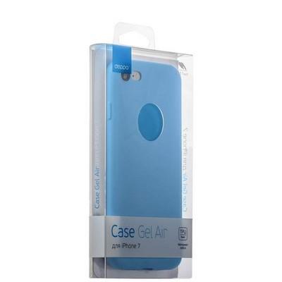 Чехол-накладка силикон Soft touch Deppa Gel Air Case D-85266 для iPhone SE (2020г.)/ 8/ 7 (4.7) 0.7мм Голубой - фото 30083