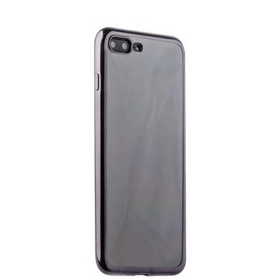 Чехол-накладка силикон Deppa Gel Plus Case D-85258 для iPhone 8 Plus/ 7 Plus (5.5) 0.9мм Черный глянцевый борт - фото 30092