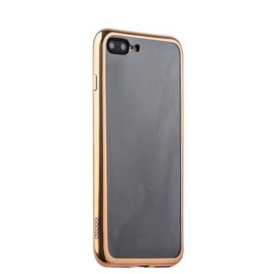 Чехол-накладка силикон Deppa Gel Plus Case D-85261 для iPhone 8 Plus/ 7 Plus (5.5) 0.9мм Золотистый глянцевый борт - фото 30095