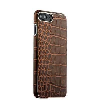 "Накладка кожаная XOOMZ для iPhone 8 Plus/ 7 Plus (5.5"") Electroplating Crocodile Embossed Genuine (XIP7010br) Коричневая - фото 30132"